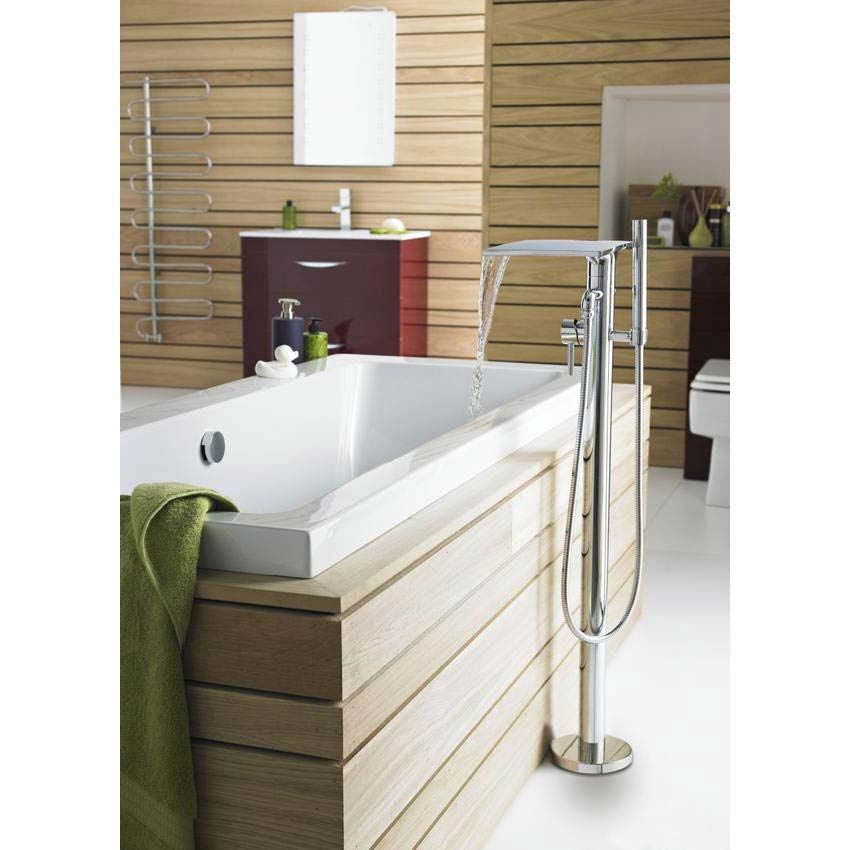 Hudson Reed - Waterfall Freestanding Bath/Shower Mixer - TFR362 Profile Large Image