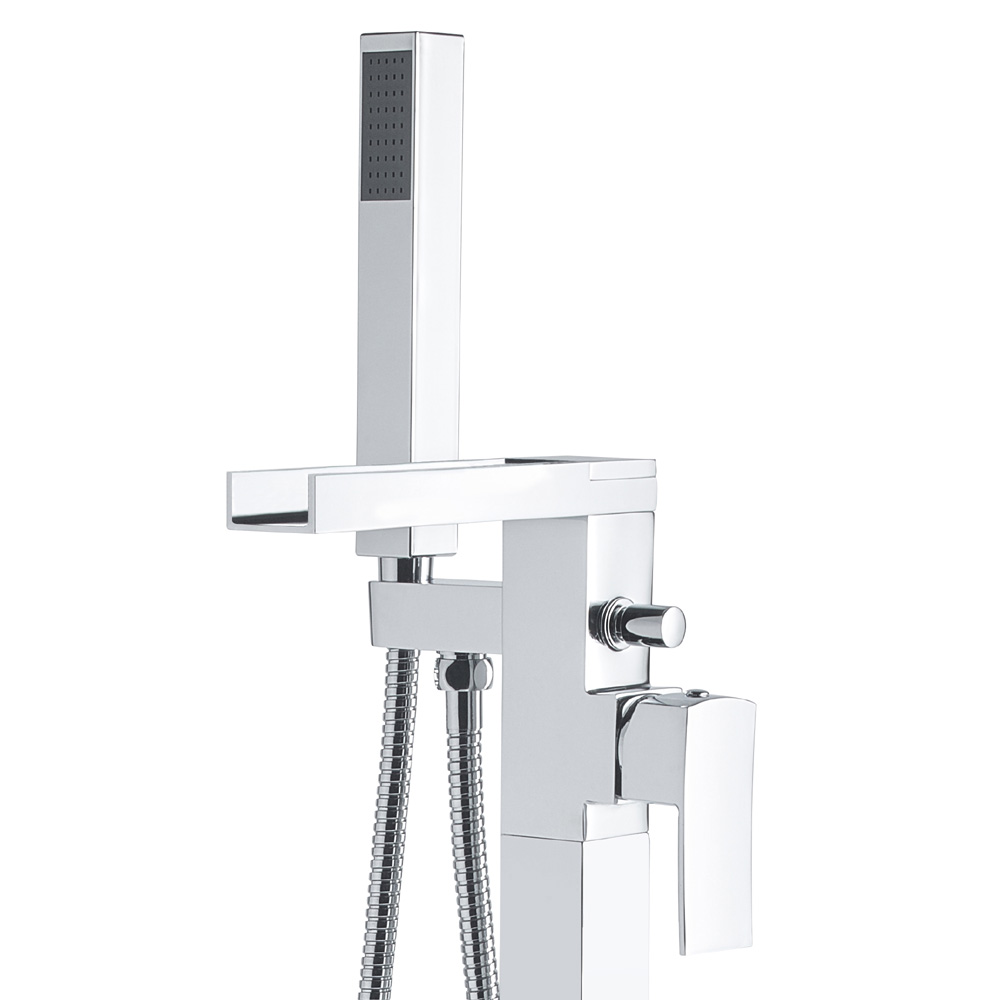 Hudson Reed Art Freestanding Bath Shower Mixer - TFR394 profile large image view 2