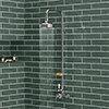 Trafalgar Traditional Shower inc. Rigid Riser, Fixed Head & Soap Basket profile small image view 1