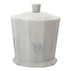 Trafalgar Grey Marble Effect Polyresin Cotton Jar with Lid profile small image view 1
