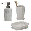 Trafalgar Grey Marble Effect Polyresin Bathroom Accessories Set profile small image view 1