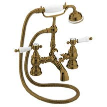 Heritage - Glastonbury Bath Shower Mixer - Bronze - TGRBR02 Medium Image