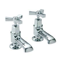 Heritage - Gracechurch Basin Pillar Taps - TGRDC00 Medium Image