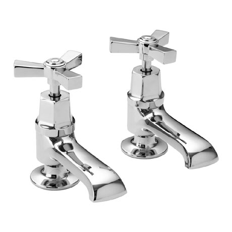Heritage - Gracechurch Basin Pillar Taps - TGRDC00