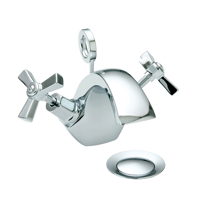 Heritage - Gracechurch Mono Basin Mixer with Pop-up Waste - TGRDC04 Large Image