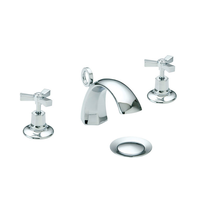 Heritage - Gracechurch 3 Hole Basin Mixer with Pop-up Waste - TGRDC06 Large Image