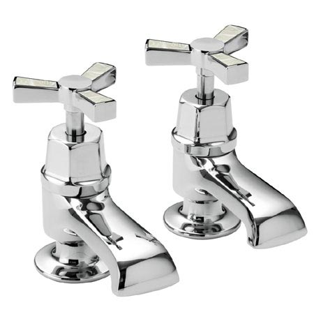 Heritage Gracechurch Mother of Pearl Bath Pillar Taps - TGRDMOP01