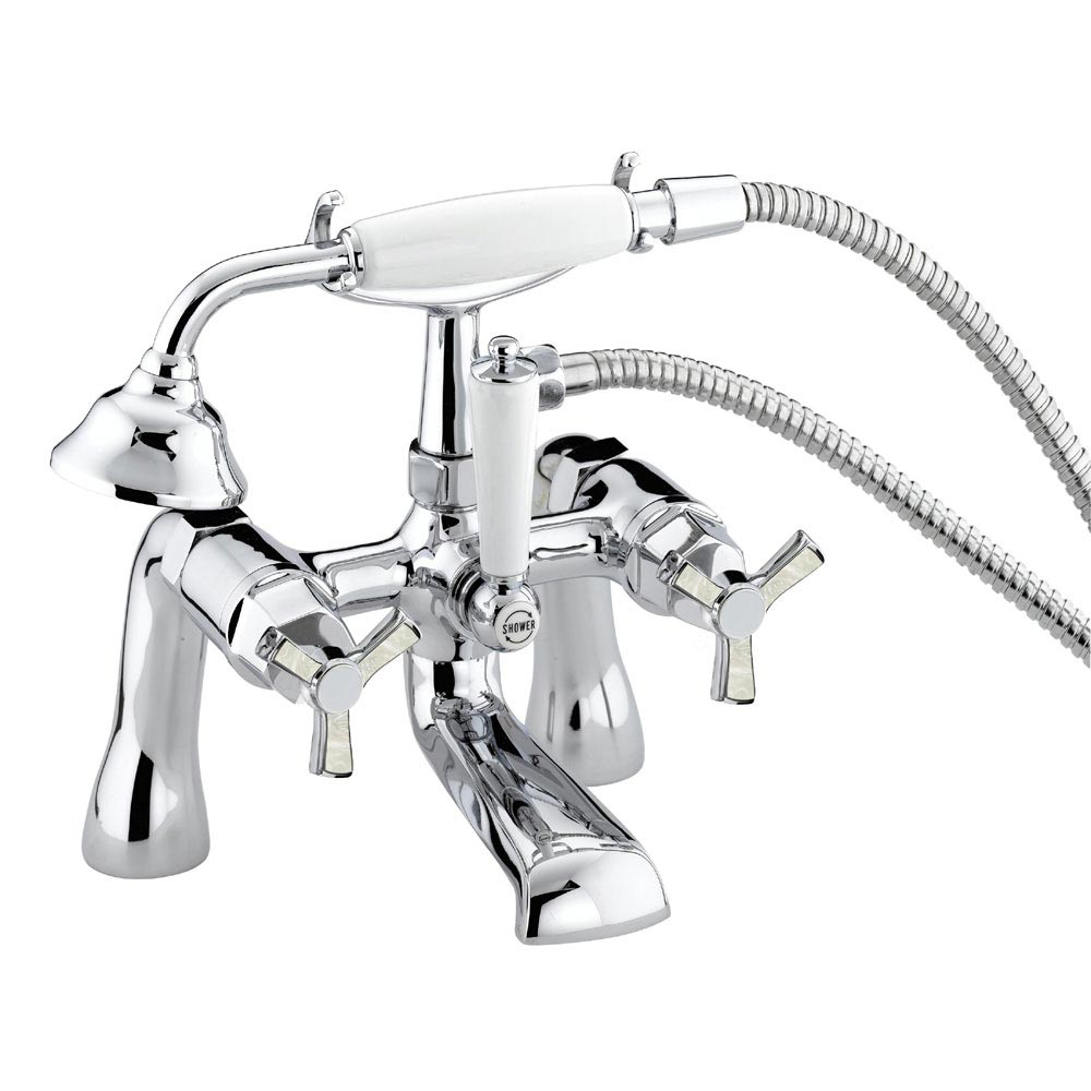 Heritage Gracechurch Mother of Pearl Bath Shower Mixer - TGRDMOP02 Large Image