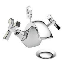 Heritage Gracechurch Mother of Pearl Mono Basin Mixer with Pop-up Waste - TGRDMOP04 Medium Image