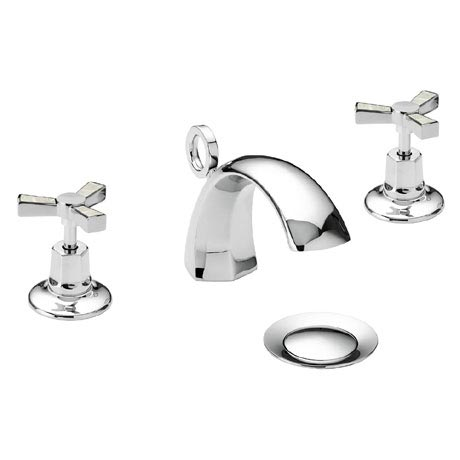 Heritage Gracechurch Mother of Pearl 3 Hole Basin Mixer with Pop-up Waste - TGRDMOP06