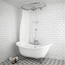 Chatsworth 1928 Traditional Free Standing Over-Bath Shower System Medium Image