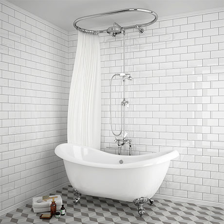 Chatsworth 1928 Traditional Free Standing Over-Bath Shower System