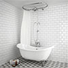 Chatsworth 1928 Traditional Free Standing Over-Bath Shower System profile small image view 1