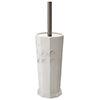 Trafalgar Grey Marble Effect Polyresin Toilet Brush Holder profile small image view 1