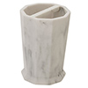 Trafalgar Grey Marble Effect Polyresin Toothbrush Holder profile small image view 1