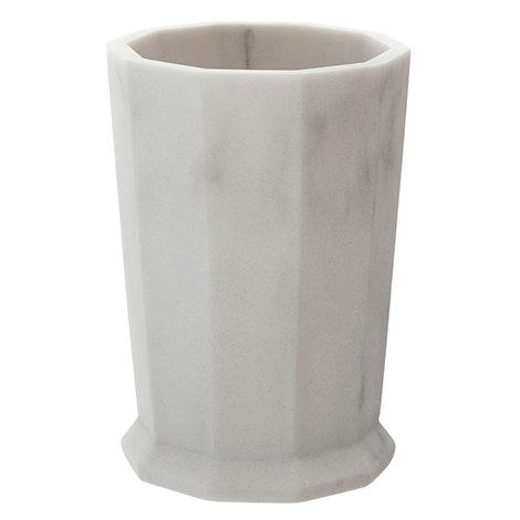 Trafalgar Grey Marble Effect Polyresin Tumbler