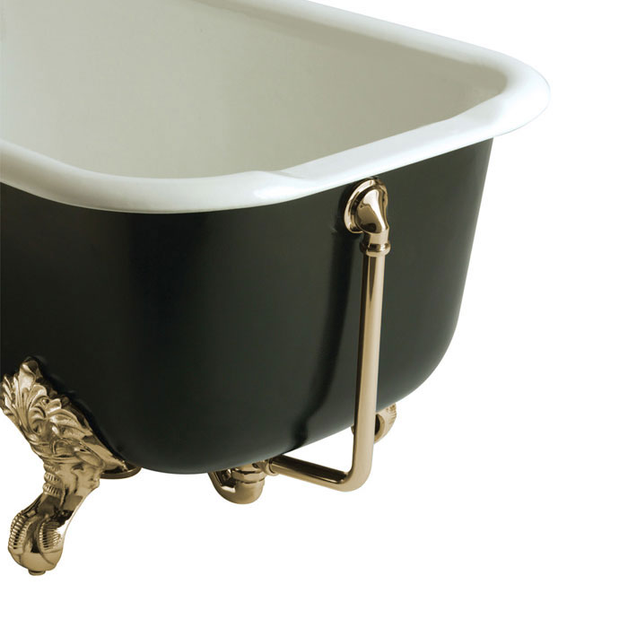 Heritage - Exposed Bath Waste & Overflow with Porcelain Plug - Vintage Gold - THA16P Large Image