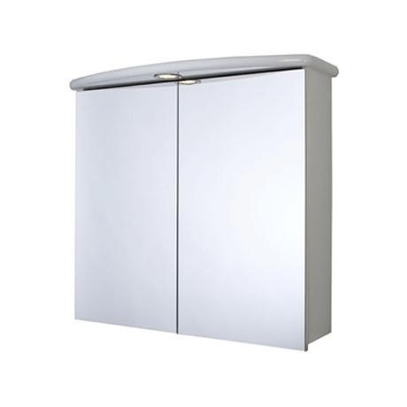 Croydex - Thames Double-Door Illuminated Mirror Cabinet - White MDF - WC146122E