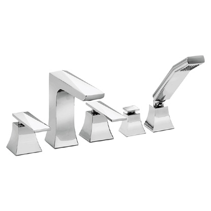Heritage - Hemsby 5 Hole Bath Shower Mixer - THPC02