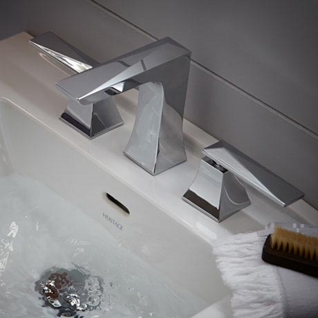 Heritage - Hemsby 3 Hole Basin Mixer with Clicker Waste - THPC06 Profile Large Image