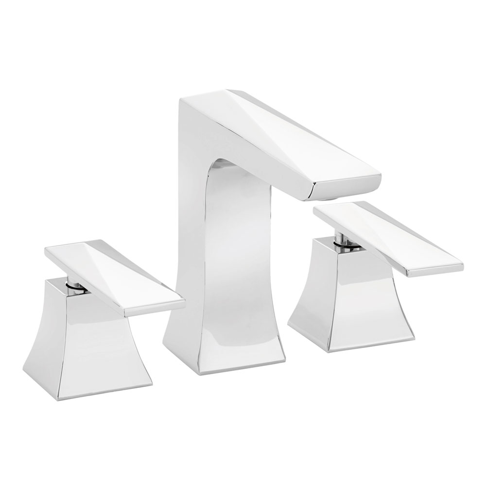 Heritage - Hemsby 3 Hole Basin Mixer with Clicker Waste - THPC06 Large Image