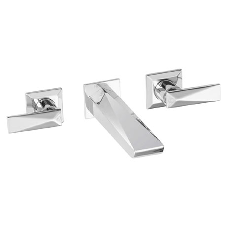 Heritage - Hemsby 3 Hole Wall Mounted Basin Mixer - THPC10