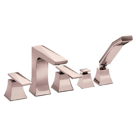 Heritage Hemsby Rose Gold 5 Hole Bath Shower Mixer - THPRG02