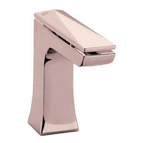 Heritage Hemsby Rose Gold Mono Basin Mixer with Clicker Waste - THPRG04