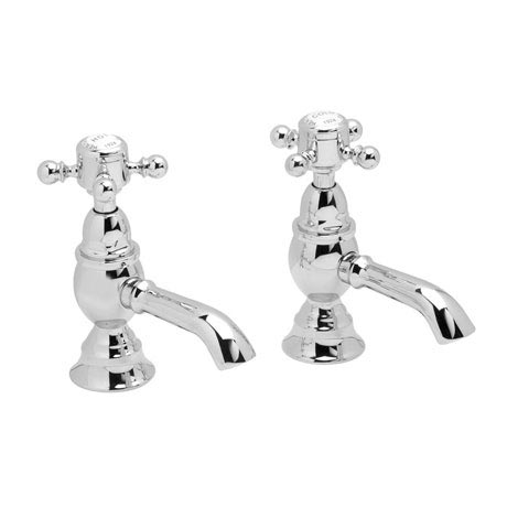 Heritage - Hartlebury Basin Pillar Taps - Chrome - THRC00