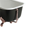Heritage Exposed Bath Waste & Overflow with Porcelain Plug - Rose Gold - THRG16P Small Image