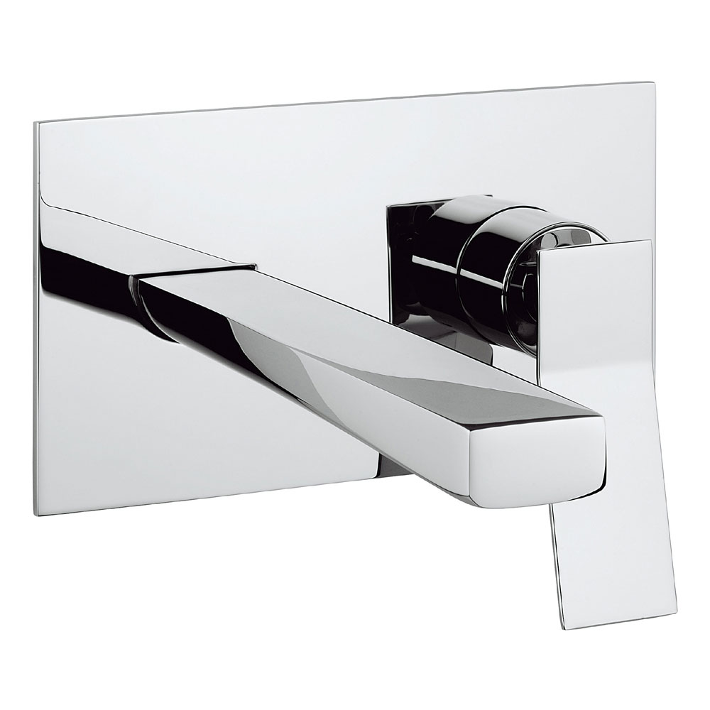 Crosswater - Trio Wall Mounted 2 Hole Set Basin Mixer - TI121WNC profile large image view 1