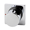 Venice Modern 1 Outlet Concealed Shower Mixer Valve - Chrome profile small image view 1