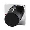 Venice Modern 1 Outlet Concealed Shower Mixer Valve - Chrome / Matt Black profile small image view 1