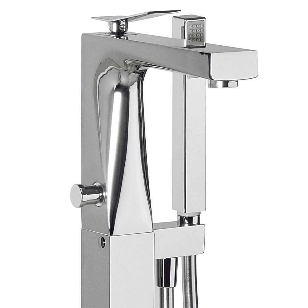 Crosswater - Trio Floor Mounted Freestanding Bath Shower Mixer - TI415FC profile large image view 2