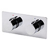 Venice Modern 1 Outlet Twin Round Concealed Shower Mixer Valve - Chrome profile small image view 1