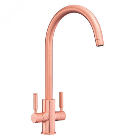 Rangemaster Intense Brushed Copper Dual Lever Kitchen Tap - TID1BC