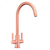 Rangemaster Intense Brushed Copper Dual Lever Kitchen Tap - TID1BC profile small image view 1
