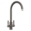 Rangemaster Intense Graphite Dual Lever Kitchen Tap - TID1GR profile small image view 1