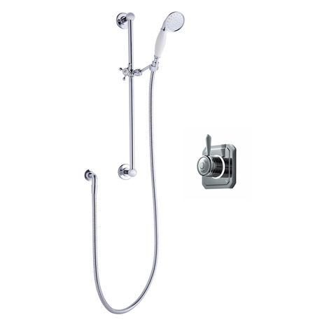 Bathroom Brands Classic 1910 Single Outlet Digital Shower Set with Slide Rail Kit