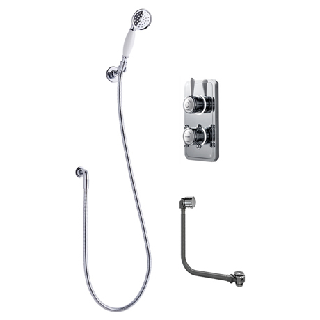 Bathroom Brands Classic 1910 Single Outlet Digital Shower Set with Shower Kit + Bath Filler Waste