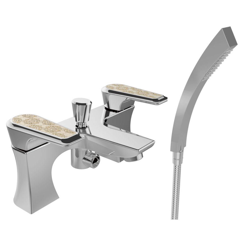 Heritage Lymington Lace Gold Bath Shower Mixer - TLYCG02