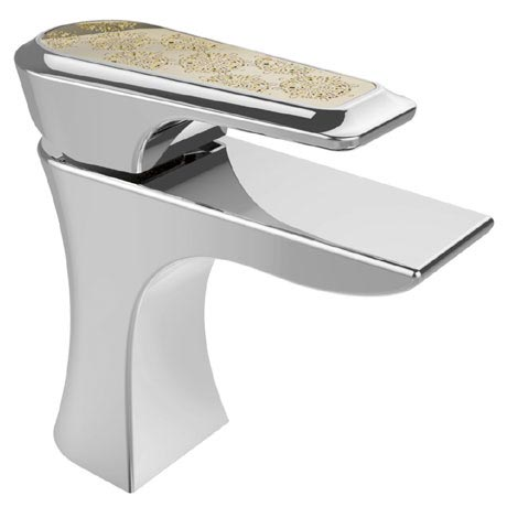 Heritage Lymington Lace Gold Mono Basin Mixer with Clicker Waste - TLYCG04