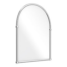 Chatsworth Traditional 673 x 490mm Arched Mirror - Chrome Medium Image