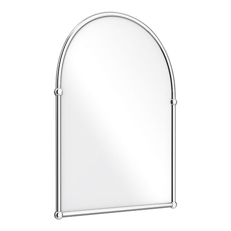 Chatsworth Traditional 673 x 490mm Arched Mirror - Chrome