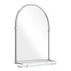 Chatsworth Traditional 700 x 490mm Arched Mirror with Glass Shelf - Chrome profile small image view 1