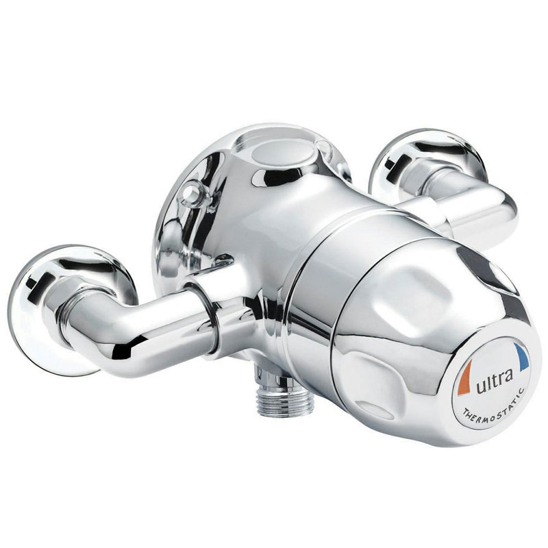 Ultra TMV3 Exposed Sequential Thermostatic Shower Valve - Handwheel Control - TMVSQ1 profile large image view 1