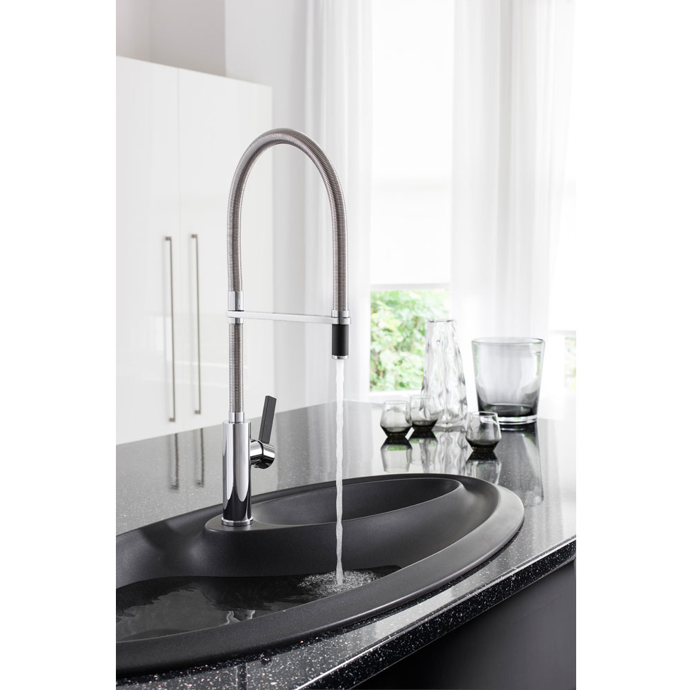 Crosswater - Cucina Tone Side Lever Kitchen Mixer with Flexi Spray - Chrome - TN718DC Profile Large Image