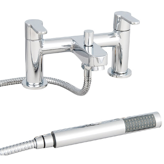Ultra Newbury Bath Shower Mixer with Shower Kit + Wall Bracket - TNB304 Large Image