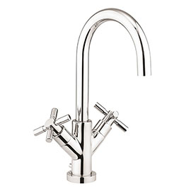 Crosswater Totti II Monobloc Basin Mixer Tap with Pop-up Waste - TO110DPC+