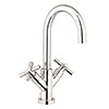 Crosswater Totti II Monobloc Basin Mixer Tap with Pop-up Waste - TO110DPC+ profile small image view 1